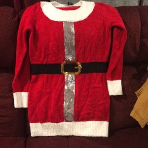 Santa holiday sweater dress